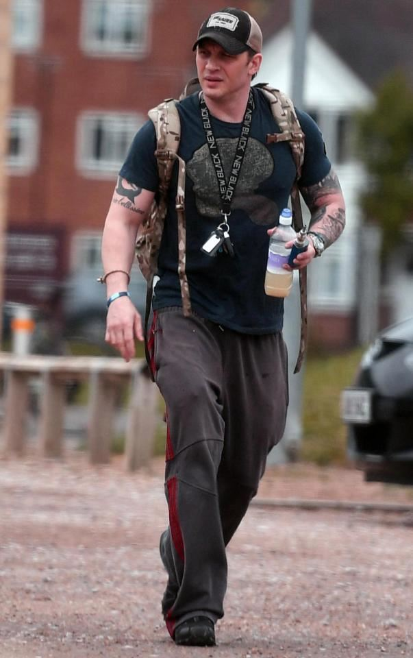 Tom Hardy wearing Salomon's?