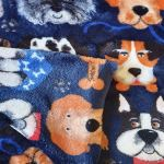 Double Sided Dog Blanket - Navy Dogs