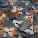 Double Sided Dog Blanket - Grey Foxes