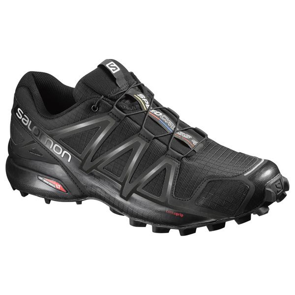 New 2019 Salomon Speedcross 4 - Black-Black Metallic