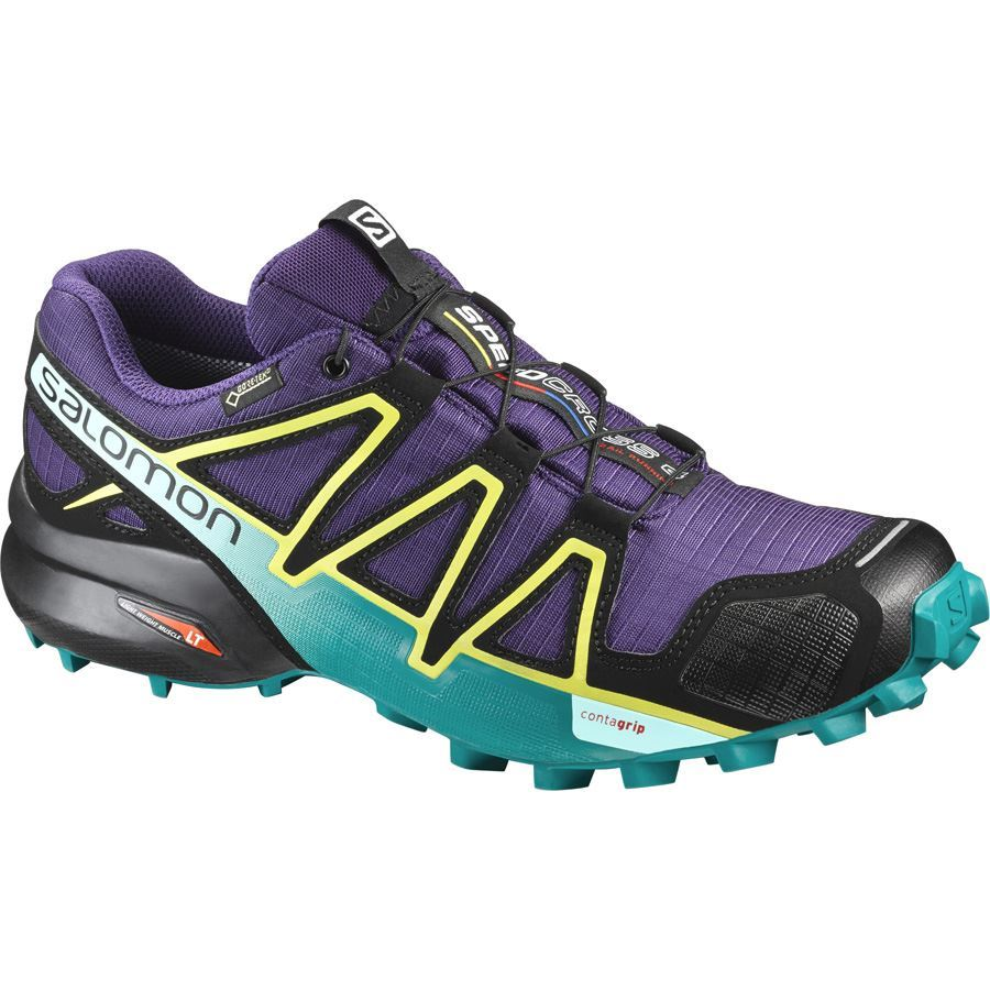 New Salomon Speedcross 4 GTX® W Acai/Deep Peacock Blue/Sulphur Spring