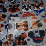 Double Sided Dog Blanket - Grey Dogs